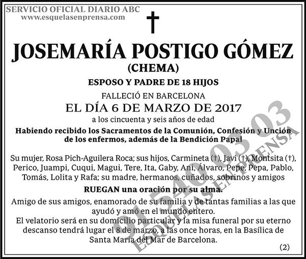 Josemaría Postigo Gómez